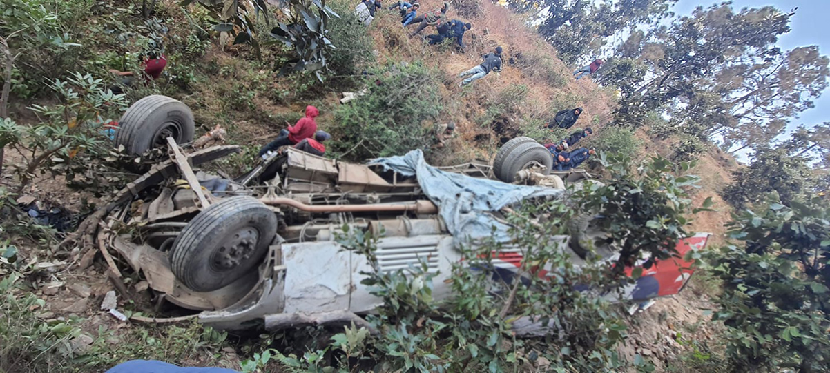 Identity Of Nine People Killed In Baitadi Bus Plunge Established