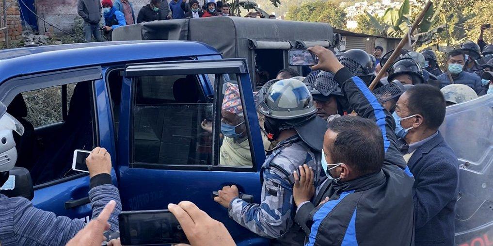 Clash Over Bridge Inauguration Issue In Tanahu, NC Senior Leader Paudel Arrested