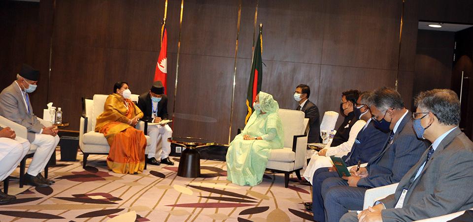 Bangladeshi PM Calls On President Bhandari