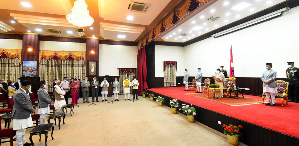 Cabinet Reshuffled, President Bhandari Administers Oath To Newly Appointed Ministers