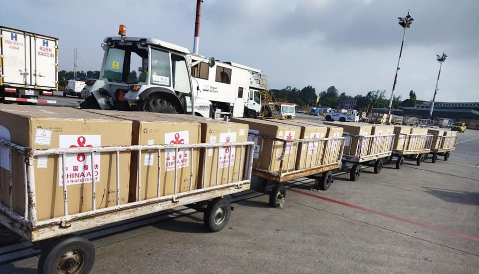 Additional 800 Thousand Doses Of Vero Cell Brought To Kathmandu From Beijing