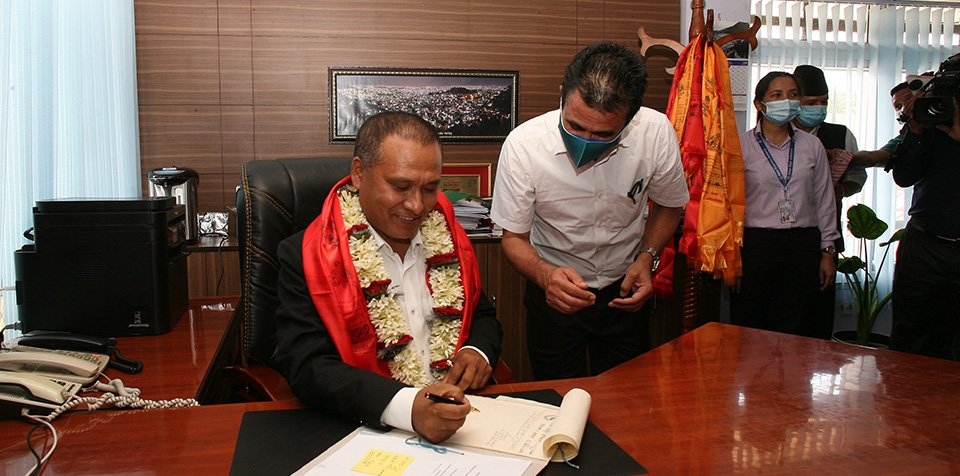 Newly Appointed NEA Managing Director Ghising Assumes Office